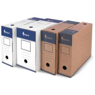 Коробка для документов А4, гофрокартон, крафт,80мм - Officedom (1)