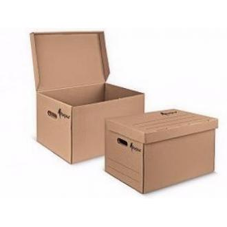 Коробка архивная 450х340х295 мм, с откидной крышкой, бурый - Officedom (1)