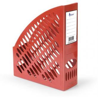 Лоток для документов А4 вертикальный, красный - Officedom (1)