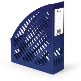 Лоток для документов А4 вертикальный, синий - Officedom (1)