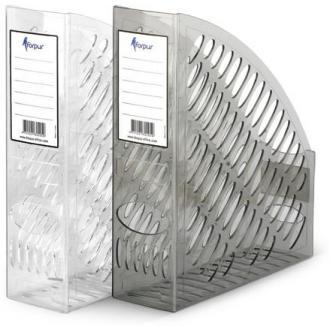 Лоток для документов А4 вертикальный, дымчатый - Officedom (1)