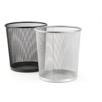 Корзина для мусора метал., 12 л, черный - Officedom (1)