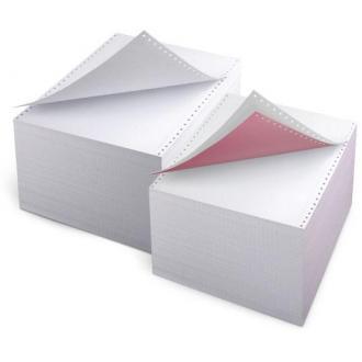 Бумага д/<wbr>принтеров с перф. 375мм, 2000л., белая - Officedom (1)