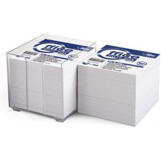 Бумага д/<wbr>заметок 9х9см в пр. подставке 800л, белый - Officedom (1)