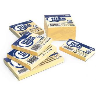 Клейкие листки 75х75мм, 100л, желтые - Officedom (1)