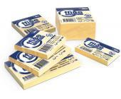 Клейкие листки 75х75мм, 400л, желтые | OfficeDom.kz