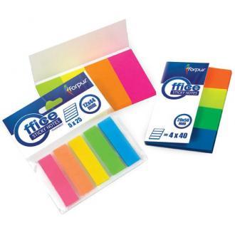 Набор клеевых закладок 12х44мм, 5 цв.х 25шт, пластиковые - Officedom (1)