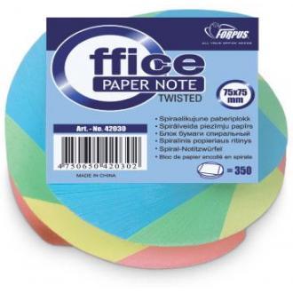 Блок бумаги для заметокTWISTED, 75х75мм, 350 л. - Officedom (1)