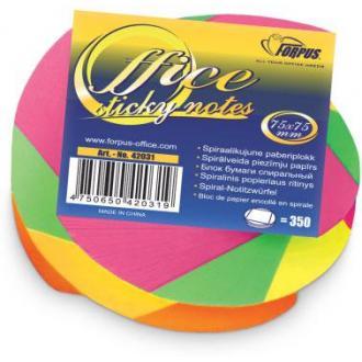 Блок бумаги для заметок NEON TWISTED, 75х75мм, 350 л. яркие неоновые цвета - Officedom (1)