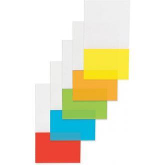 Индексы 44х25мм, в прозрачном диспенсере 50л., желтые - Officedom (1)
