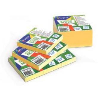 Клейкие листки EU 75х75мм, 400л, желтые - Officedom (1)