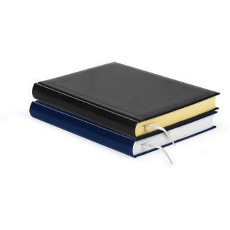Ежедневник недатированный А5, черный, желтые страницы - Officedom (1)