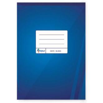 Блокнот проклеенный отрывной А5, 70л, клетка, синий - Officedom (1)