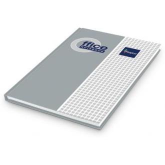 Книга учета А4, матовая обл. твердый переплет, 96 л., клетка, серая - Officedom (1)