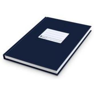 Книга учета А4, матовая обл. твердый переплет, 192 л., клетка, синяя - Officedom (1)