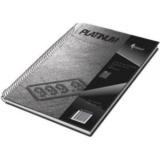 Книга учета Platinum А4, 120 л., твердый переплет, на спирали, клетка - Officedom (1)