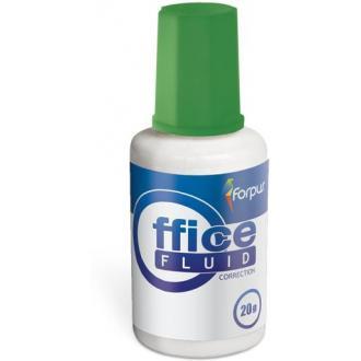 Корректирующая жидкость с кисточкой, 20мл, на водной основе - Officedom (1)