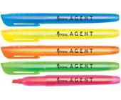 Маркер текстовой Agent скош.нак. 1-4мм, желтый | OfficeDom.kz