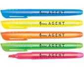 Маркер текстовой Agent скош.нак. 1-4мм, оранжевый | OfficeDom.kz