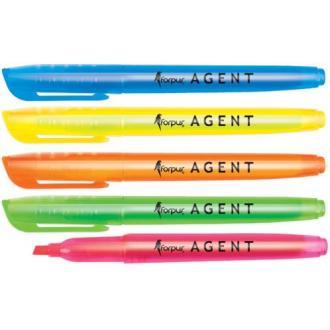 Маркер текстовой Agent скош.нак. 1-4мм, синий - Officedom (1)