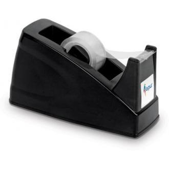Диспенсер для клейкой ленты, 19 мм, 143х53х83 мм, настольный, черный - Officedom (1)