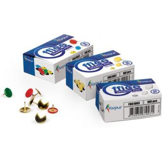 Кнопки-гвоздики , d=9,5 мм, 100 шт., цветные - Officedom (1)