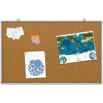 Доска настенная пробковая 60 х 90см, в алюм. рамке - Officedom (1)
