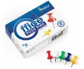 Кнопки-гвоздики для доски цвет.100шт | OfficeDom.kz