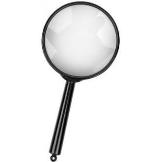 Лупа ручная 6-кратная, диаметр 60 мм - Officedom (1)