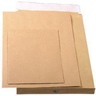 Конверт B4, 250х353мм с расширителем 40мм и отр. полосой, коричневый - Officedom (1)