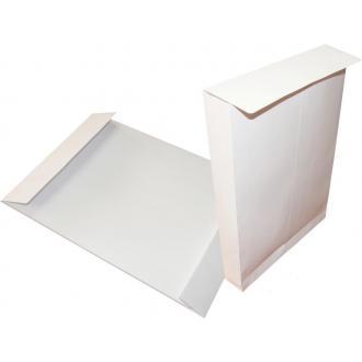 Конверт B4, 250х353мм с расширителем 40мм и отр. полосой, белый - Officedom (1)