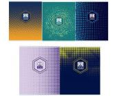 "Тетрадь общая на скрепке ""Halftone Pattern"" А5, 96 л., клетка | OfficeDom.kz"