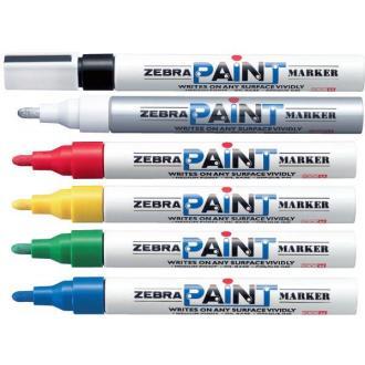 Маркер перманентный Zebra PAINT, белый - Officedom (1)