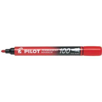 Маркер перманентный Pilot SCA-100 круг.након. 1мм, красный - Officedom (1)