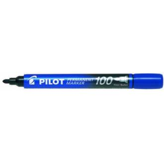 Маркер перманентный Pilot SCA-100 круг.након. 1мм, синий - Officedom (1)