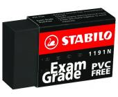 Стирательная резинка Stabilo Exam Grade, 3 шт/уп, черная (1191BL3E) | OfficeDom.kz