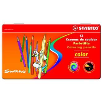 """Карандаши цветные наточенные Stabilo """"Color"""" 12 цв., металл. коробка (1812-77) - Officedom (1)"""