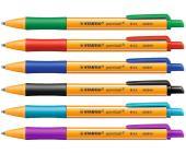 Ручка шариковая автом. Stabilo pointball 0,5 мм, бирюзовый (6030/51)   OfficeDom.kz