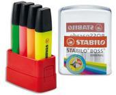 Набор маркеров текстовых Stabilo BOSS Parade, 2-5мм, 4цв., с подставкой (7004-41) | OfficeDom.kz