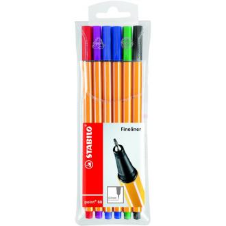 Набор капиллярных ручек Stabilo point 88, 0,4 мм, 6 цветов (88/<wbr>6) - Officedom (1)