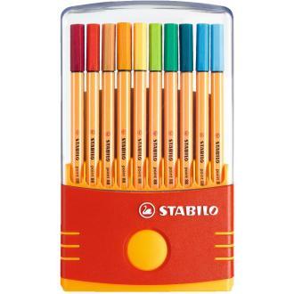 Набор капиллярных ручек Stabilo point 88 Parade, 0,4 мм, 20 цветов (8820-03) - Officedom (1)