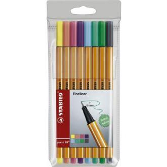 Набор капиллярных ручек Stabilo point 88 Pastel, 0,4 мм, 8 цветов (88/<wbr>8-01) - Officedom (1)