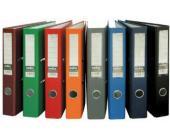 Папка-регистратор INDEX Eco А4 с бок. карманом, 50мм, темно-красный | OfficeDom.kz