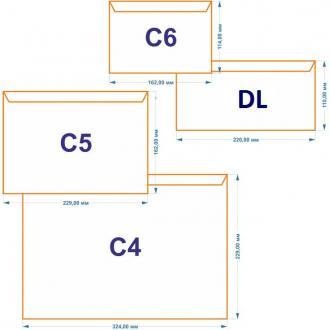 Конверт С6 114х162мм с отр. полосой по длинной стороне, 80 г/<wbr>м2, белый - Officedom (1)