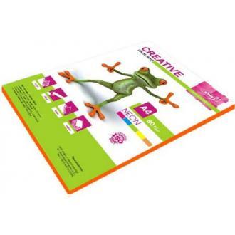 Бумага KRIS Неон 80гр, А4, 50л, оранжевый - Officedom (1)