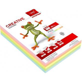 Бумага KRIS Пастель Радуга 80г/<wbr>м2, А4, 500л, 5 пастель. цвет. (оранж., зел., роз., желт., голуб.) - Officedom (1)