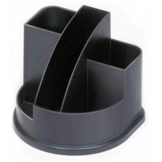 Органайзер настольный СТАММ ОР52 Авангард, пустой, черный - Officedom (1)