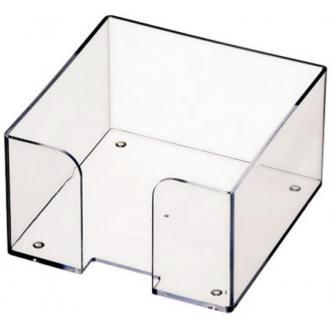 Подставка для блока бумаги СТАММ ПЛ61, 9х9х5, прозрачный - Officedom (1)