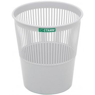 Корзина для бумаг сетчатая СТАММ КР22, 9л, серый - Officedom (1)