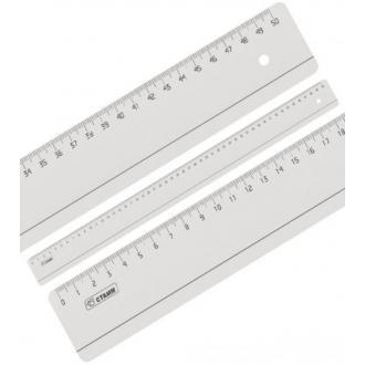 Линейка пластиковая, 50 см СТАММ ЛН95, прозрачная - Officedom (1)